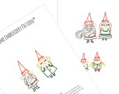Gnomes Embroidery Patterns Set Digital Downloadable PDF Hand Embroidery Fairy Tale 0052