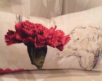 "Positive/Negative cotton pillow cover from ""BEAUREGARD Collection"" 12""x22"""