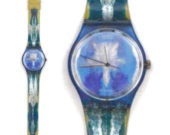 Vintage 90s Swatch Test GZ118 Cherif & Silvie Defraoui Designed Quartz Swiss Watch