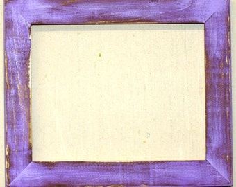 "1-1/2"" Violet Distressed Picture Frame"