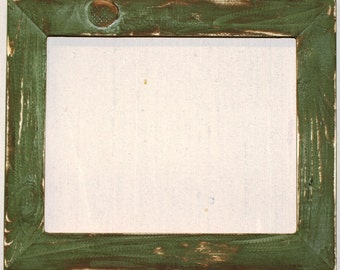 "1-1/2"" Sage Distressed Picture Frame"