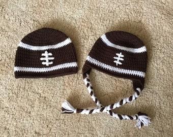 Crocheted Football Hat