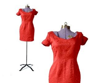 Mini dress, Red Vintage Dress, Espirit Dress, Small Red Dress, Red Party Dress, Red Cocktail Dress, XS Dress, Extra small Dress Vintage Dres