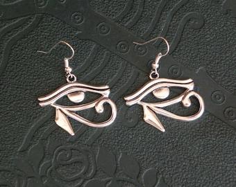 Silver Egyptian eye Horus Oudjat earrings