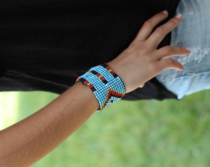 Blue Beaded Bracelet,