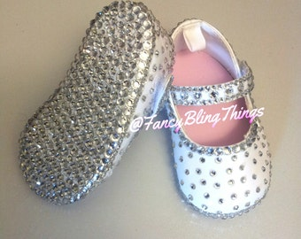 Crystals Bling baby girl shoes