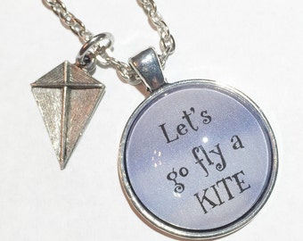 Let's go fly a kite, kite jewelry, kite necklace, disney inspired, mary poppins inspired, mary poppins jewelry, kite charm, kite