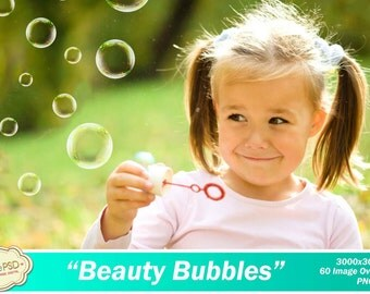 60 Bubble Photoshop Overlays - Scrapbooking - Beauty Bubbles - CPZ097