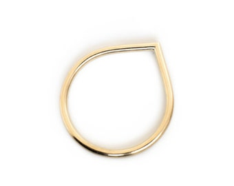Ring Gold 8 Karat: DROP S - feiner minimalistischer Ring aus 8kt Gold (333)