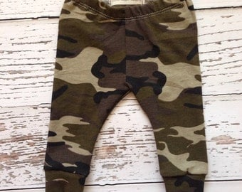 Camo Baby leggings, camo toddler leggings, baby boy leggings, infant leggings, newborn outfit, camouflage baby outfit