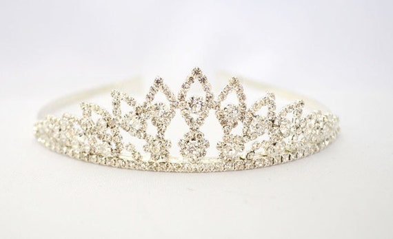 Wedding Rhinestone Tiara - Bachelorette, Bridal Shower, Princess Tiara, Birthday, Silver Tiara