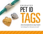 Engraved Pet ID Tag - (11 Styles) - Personalized for Cat Collar / Small Dog Collar