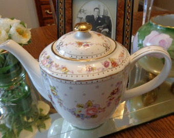 Gorgeous Teapot / Tea Party China/ Bridal Shower Teapot/  Shabby Chic Teapot