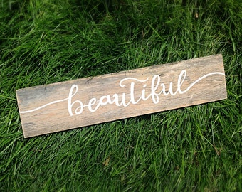 Nursery Signs-Reclaimed Wooden Signs-Beautiful