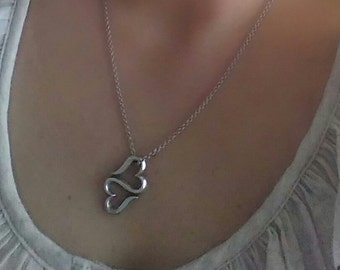 """James Avery Sterling Silver Heart To Heart Necklace 17"""""""