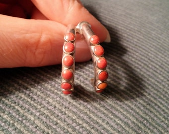 Sterling Silver Spiney Oyster Hoop Earrings