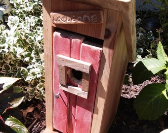 Rustic Birdhouse - Outhouse