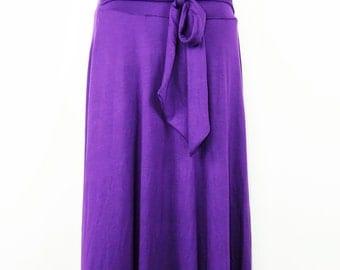 Women's Plus Size floor length jersey knit Skirt
