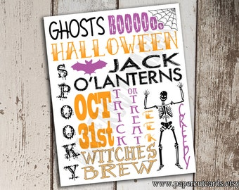 Halloween Subway Art Instant Download Printable File