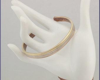 Vintage 24K Gold Electroplated Magnetic Healing Cuff Bracelet