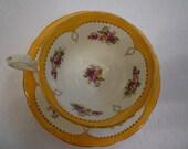 AYNSLEY TEACUP SET. Vintage English Bone China. Engklish Teas. Cottage Decor. Gift. Elegant. Collectible Teacup Set