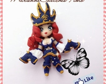 Handmade League of Legends Miss Fortune Chibi Polymer Clay on demand