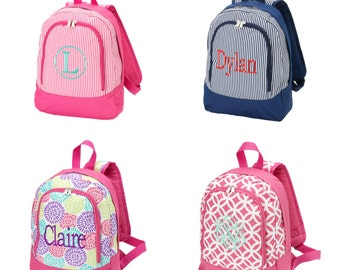 Personalized monogrammed children's backpack