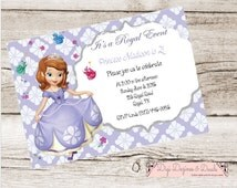 Sophia the First Princess Birthday Invite Digital Printable Purple Princess