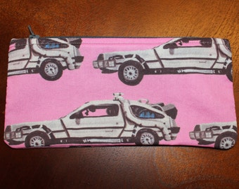 Delorean Zipper Pouch