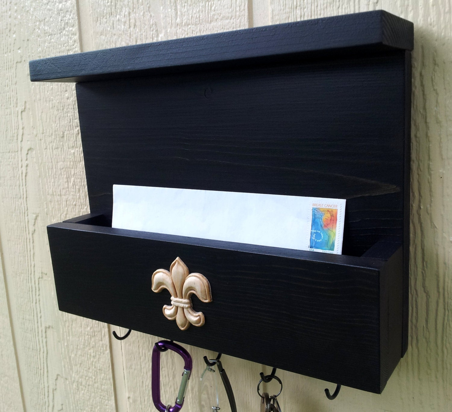 Mail And Key Holder With Top Shelf Mail And Key By