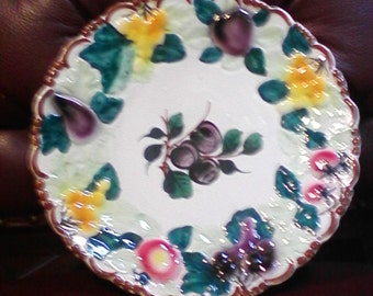 Decorative Hand Painted Platter Made In Italy