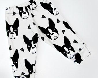 Pre Order- Organic boston terrier leggings