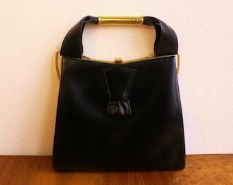 MOD Vintage 1960s handbag bag Fasco British 2 Tone mod style