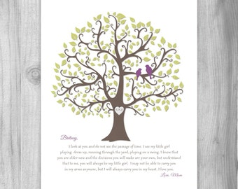 Gift FOR Daughter from MOM Gift for Bride from Mother Gift from mom Personalized print Art Print Keepsake Art 8x10