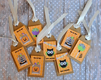 Trick or Treat Halloween Gift Tags - set of 12