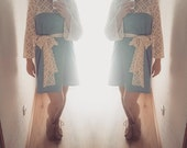 SKY BLUE LACE dress ~ Boho dress ~ Lace top dress ~ Tropical wool  ~ Party dress ~ Wedding dress ~ Bohemian dress ~ Cotton lace ~ Bridesmaid