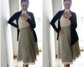 STRIPE MIDI skirt ~ Off white skirt ~ Beige skirt ~ Lace skirt ~ Off white lace ~ Lace trimming ~ Summer skirt ~ Retro skirt
