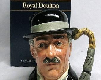 Vintage ROYAL DOULTON 1988 Large Toby Mug Jug - City Gent D-6815