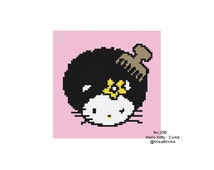 C2C crochet Graph, PDF instant download, Hello Kitty Cross Stitch Chart Pattern, No.206