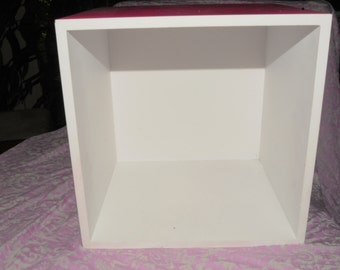 Wood Miniature Dollhouse Room Box Empty, 9 1/4 x 9 1/4 inches, Painted, ready for decor, Display  1:12 Scale