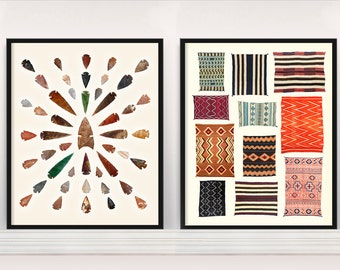 Native American Typologies   Navajo Rugs   Arrowheads   Spearheads    Tapestry   Native American Poster