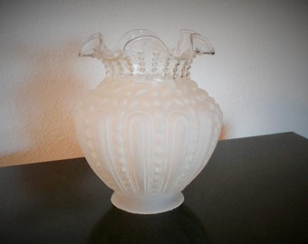 Ruffled and Frosted Glass Light Globe
