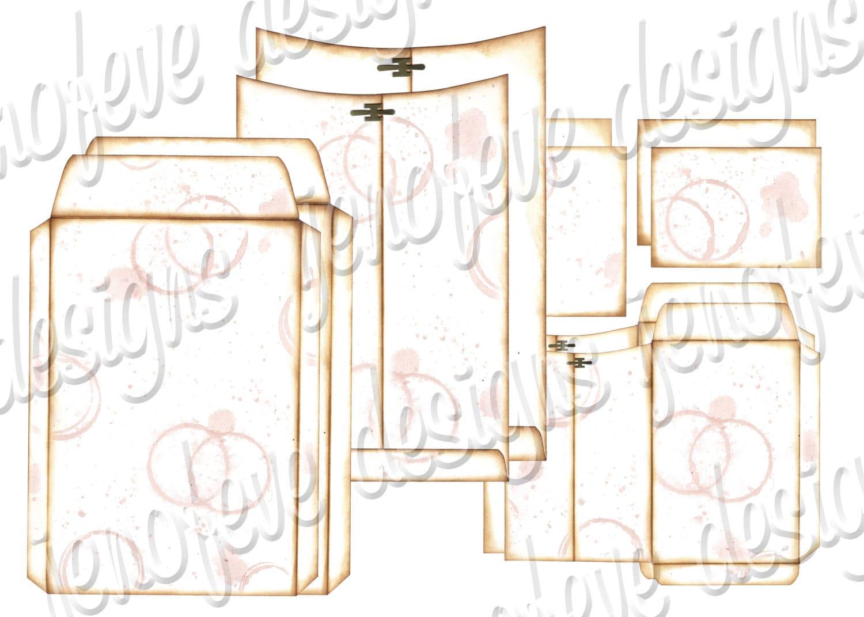 6x9 printable envelope album watermark plain templates. Black Bedroom Furniture Sets. Home Design Ideas