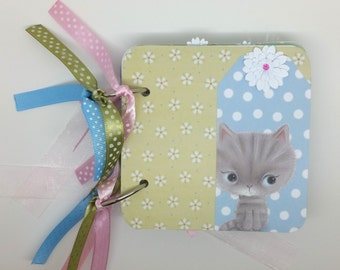 Little Meow scrapbook mini album with the matching box