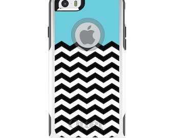 OtterBox Commuter for Apple iPhone 5S SE 5C 6 6S 7 8 PLUS X 10 - Custom Monogram - Any Colors - Black White Blue Chevron