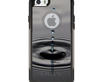 OtterBox Commuter for Apple iPhone 5S SE 5C 6 6S 7 8 PLUS X 10 - Custom Monogram - Any Colors - Single Water Droplet