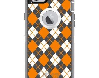 Custom OtterBox Defender Case for Apple iPhone 6 6S 7 8 PLUS X 10 - Monogram - Tennessee UT Volunteers Vols Colors - Argyle Pattern