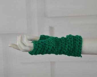 Fingerless gloves - green