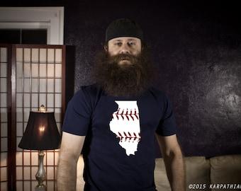 Illinois baseball t-shirt Navy blue, grey or black