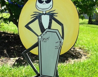 Hand Painted Jack Skellington Nightmare Before Christmas Yard Art